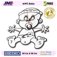 Jam dinding - MWC Baby - JNE 1KG - Garansi Seiko 2 Tahun!