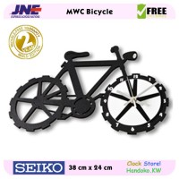 Jam dinding - MWC Bicycle - JNE 1KG - Garansi Seiko 2 Tahun!