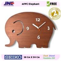 Jam dinding - MWC Elephant - JNE 1KG - Garansi Seiko 2 Tahun!