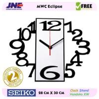 Jam dinding - MWC Eclipse - JNE 1KG - Garansi Seiko 2 Tahun!