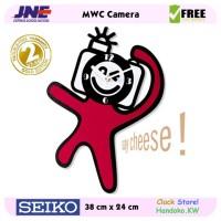 Jam dinding - MWC Camera - JNE 1KG - Garansi Seiko 2 Tahun!