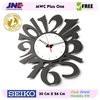 Jam dinding - MWC Plus One - JNE 1KG - Garansi Seiko 2 Tahun!