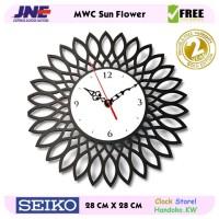 Jam dinding - MWC Sun Flower - JNE 1KG - Garansi Seiko 2 Tahun!