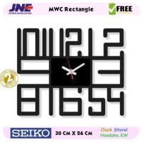Jam dinding - MWC Rectangle - JNE 1KG - Garansi Seiko 2 Tahun!