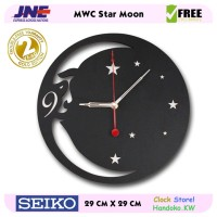 Jam dinding - MWC Star Moon - JNE 1KG - Garansi Seiko 2 Tahun!