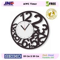 Jam dinding - MWC Timer - JNE 1KG - Garansi Seiko 2 Tahun!