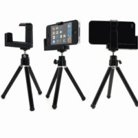 Universal Tripod Mini & Holder/Bracket untuk hp JUMBO. Samsung, HTC, LG, Advan, Smarfren, China, DLL...
