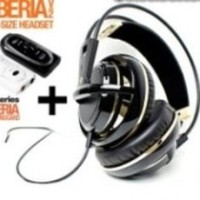 Steelseries Siberia Full-size Headset V2 Black Gold + SoundCard