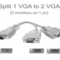 KABEL VGA SPLITTER 1 PC -->> 2 MONITOR