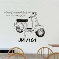 Wall Stiker Uk.60x90 Wall Sticker Dinding Vespa