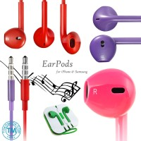 harga {NEW ARRIVER}Earphones Earpods with Mic Remote apple Iphone5/5s iPod Itouch Nano Ipad Mp3 Samsung iPad Air -High Quality Sounds Tokopedia.com