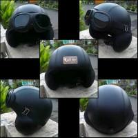 Jual Helm Retro Vespa Classic Pilot Hitam Murah