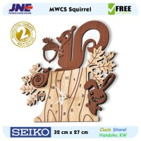 Jam dinding - MWCS Squirrel - JNE 1KG - Garansi Seiko 2 Tahun!