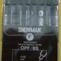 Permanent Marker - Snowman - OHP OPM 8Colours Medium Point