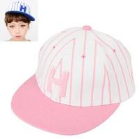 C07190 topi korea snapback baseball Pink Embroidery H