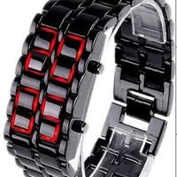 Jam Iron Samurai Tokyoflash Tokyo Flash KW Black Red LED Watch