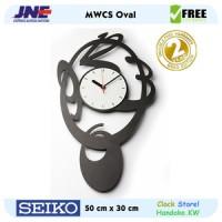 Jam dinding - MWCS Oval - JNE 3KG - Garansi Seiko 2 Tahun!