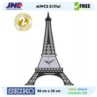 Jam dinding - MWCS Eiffel - JNE 3KG - Garansi Seiko 2 Tahun!