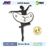 Jam dinding - MWCS Ballet - JNE 3KG - Garansi Seiko 2 Tahun!