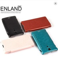 Kalaideng Enland Flip Cover/ Leather Case TX Sony Xperia LT29I dengan paket Bonus