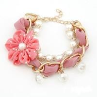 A22323 pink | Gelang rantai import gaya korea koleksi Ichika Shop
