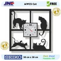 Jam dinding - MWCS Cat - JNE 2KG - Garansi Seiko 2 Tahun!