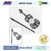 Jam dinding - MWCS Violin - JNE 3KG - Garansi Seiko 2 Tahun!