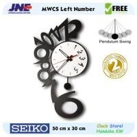 Jam dinding - MWCS Left Number - JNE 3KG - Garansi Seiko 2 Tahun!