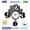 Jam dinding - MWCS Hang Out - JNE KG - Garansi Seiko 2 Tahun!