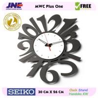 Jam dinding - MWCS Plus One - JNE 2KG - Garansi Seiko 2 Tahun!