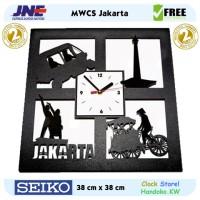 Jam dinding - MWCS Jakarta - JNE 2KG - Garansi Seiko 2 Tahun!