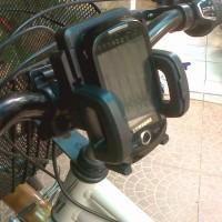 Rak handphone untuk sepeda bisa juga buat motor sport