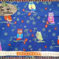 Kain Katun - Pretty Owls on Dark Blue