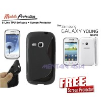 Softcase Samsung Galaxy Young S6310 : Mp S-line Tpu Softcase ( + Free Sp)