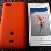 Silikon Case Sony Xperia Miro ST23i Rubber Merah