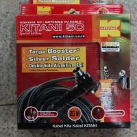 Kabel antena TV tanpa booster Kitani 5C, panjang 20M Merk KITANI