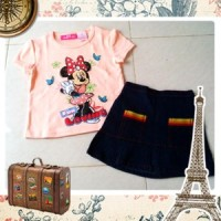 Set Minnie Mouse (top+skirt)