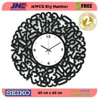 Jam dinding - MWCG Big Number - JNE 5KG - Garansi Seiko 2 Tahun!