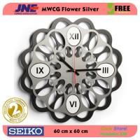 Jam dinding - MWCG Flower Silver - JNE 5KG - Garansi Seiko 2 Tahun!