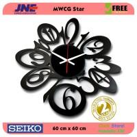 Jam dinding - MWCG Star - JNE 5KG - Garansi Seiko 2 Tahun!