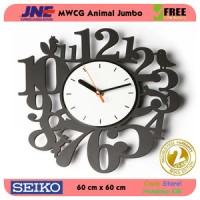Jam dinding - MWCG Animal Jumbo - JNE 5KG - Garansi Seiko 2 Tahun!