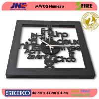 Jam dinding - MWCG Numero - JNE 3KG - Garansi Seiko 2 Tahun!