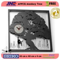 Jam dinding - MWCG Monkey Tree - JNE 3KG - Garansi Seiko 2 Tahun!