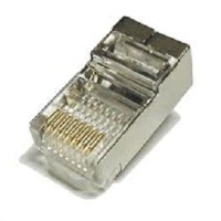 RJ45 Shielded Plug Cat5 Metal High Quality Lan Connector Network