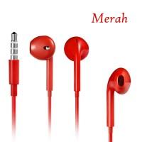 harga Earphones Earpods (Merah) with Mic Remote apple Iphone5/5s iPod Itouch Nano Ipad Mp3 Samsung iPad Air Tokopedia.com