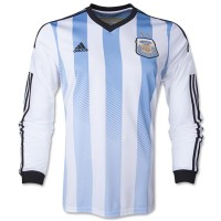 Jersey Argentina Home Long Sleeves World Cup 2014