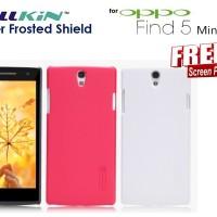 Case Oppo Find 5 Mini R827t : Hardcase Nillkin Super Frosted ( + Free Sp)