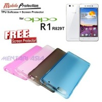 Case Oppo R1 R829t : Mp Tpu Softcase ( + Free Sp)