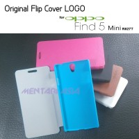 Flipcover Oppo Find 5 Mini R827t : Original Flipcover Logo