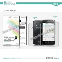 LG Nexus 4 nillkin crystal clear screen 2 side depan belakang